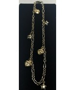 """LOVELY LADIES 14K WHITE AND YELLOW GOLD CHARM ANKLE BRACELET 10"""" - $359.00"""