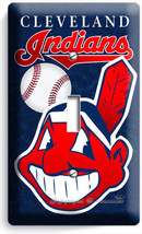 Cleveland Indians Baseball Single Light Switch Wall Plate Cover Sport Room Decor - $8.09