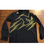 Michigan Wolverines Hoodie Small Adidas Blue NCAA Hooded Sweatshirt - $18.99