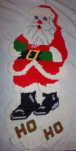 "Vtg CHRISTMAS SANTA CLAUS 24"" Decoration Plastic Canvas Completed Needle... - $9.99"