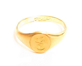 Vintage Esposito Sterling Silver Gold Vermeil Monogram Signet Rings D,G,... - $18.71