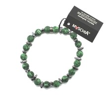 Silver Bracelet 925 with Hematite and Jasper BWI-1 Made in Italy by Maschia image 1