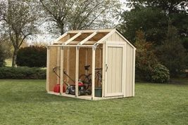 Yard Garage Storage Shed House Wooden Building Kit Tool Shelter Outdoor ... - $89.99