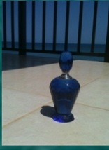 Cobalt Blue Glass Bottle With Topper - $39.99