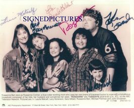 An item in the Entertainment Memorabilia category: ROSEANNE CAST ALL 6 SIGNED AUTOGRAPHED RP PHOTO ROSANNE