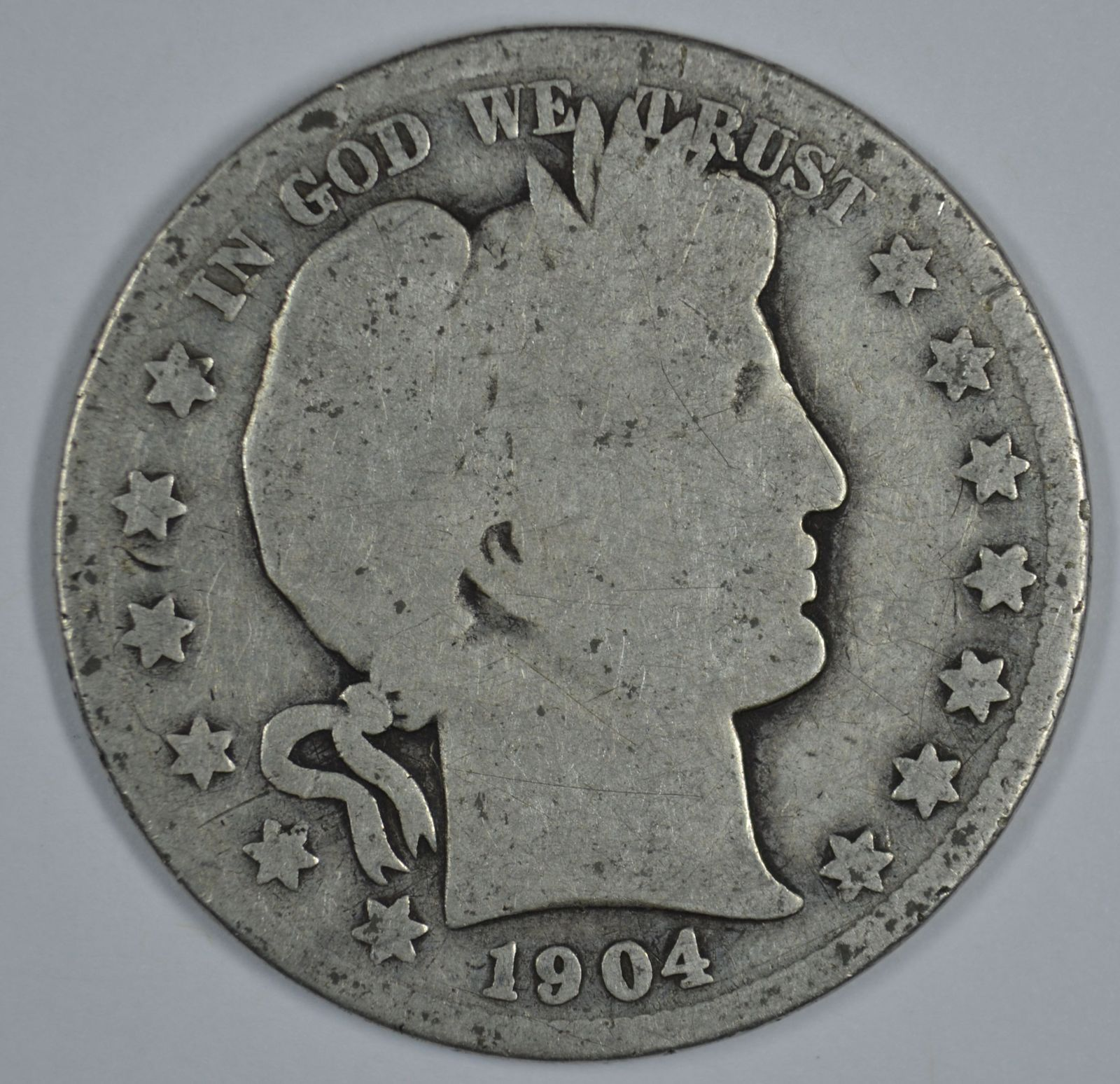 Primary image for 1904 O Barber circulated silver half