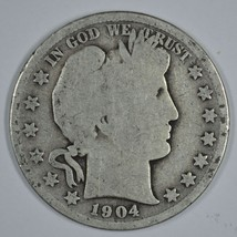1904 P Barber circulated silver half - $13.00