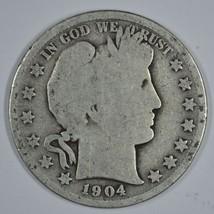 1904 P Barber circulated silver half - $13.00