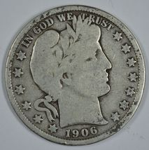 1906 D Barber circulated silver half - $21.00