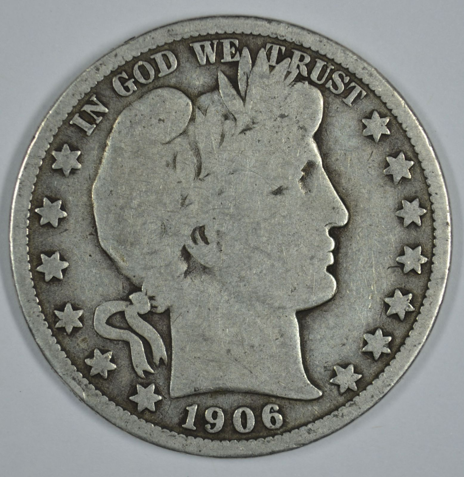 Primary image for 1906 O Barber circulated silver half