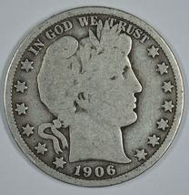 1906 O Barber circulated silver half - $19.00
