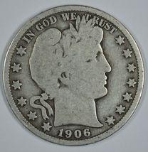 1906 O Barber circulated silver half - $19.00