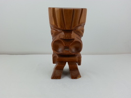 Vintage Hand Carved Ku Figurine - From Wood - Minor Damage to Foot - $35.00