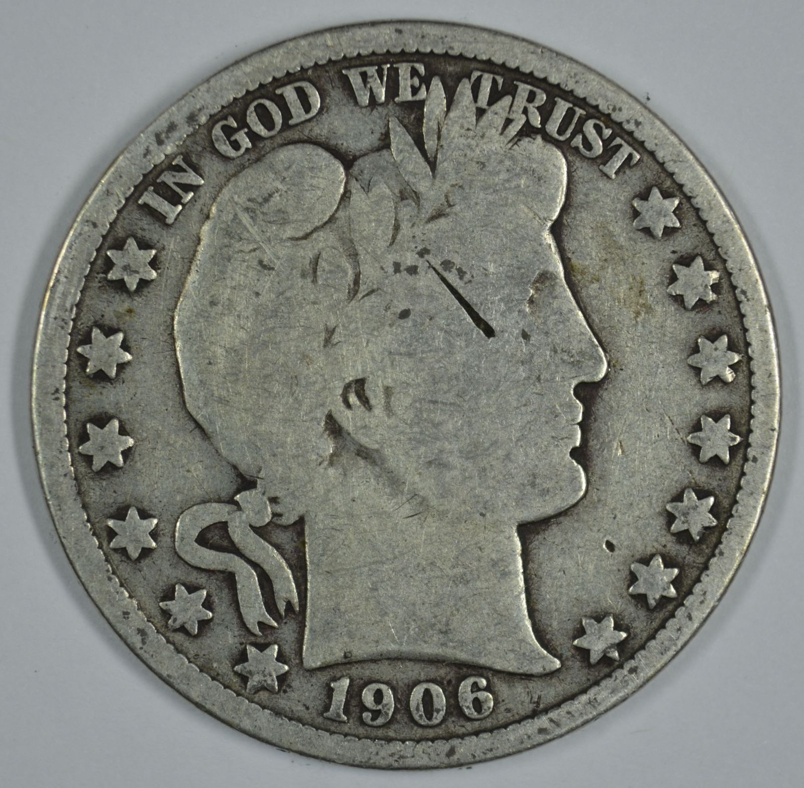 Primary image for 1906 P Barber circulated silver half