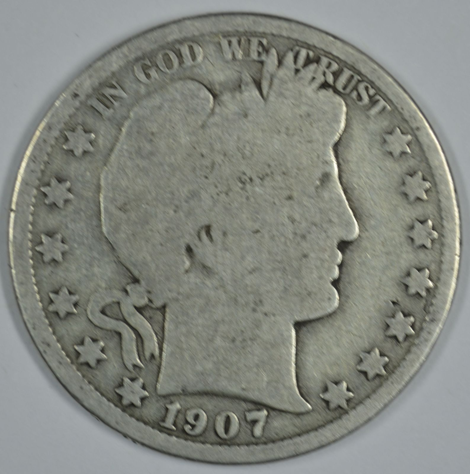 Primary image for 1907 O Barber circulated silver half