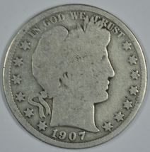 1907 O Barber circulated silver half - $14.00