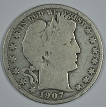 1907 P Barber circulated silver half - $19.00