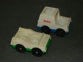 Fisher Price Little People: 2 Vehicles 2-Seat Passenger Car + Mail Truck - $10.00