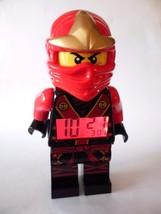 Lego Ninjago Kai Alarm Clock Masters of Spinjitzu Red Ninja - $24.45