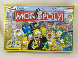 Monopoly the Simpsons 2004 Board Game Parker Brothers 100% Complete Near... - $29.45