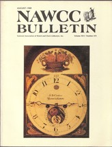 Watch and Clock Collectors magazine August 1988... - $12.80