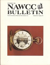 Watch and Clock Collectors magazine December 19... - $12.80