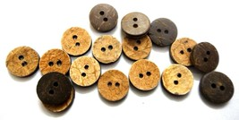 "THE SIMPLETON 2 Hole COCONUT SHELL Button Sewing Scrapbook 11 mm (7/16"")... - $2.28+"