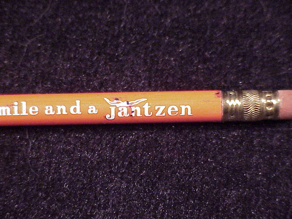 Jantzen Swimwear Swimsuit Orange Advertising Pencil