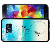 Personalized Case For Samsung S9 S8 S7 S7 S6 Plus Rubber Birds Infinity Beach - $13.98