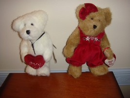Boyds Bears Plush Miss Hugaby And Ido Loveya Bears - $19.99