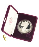 1986-S American Eagle Proof (1oz .999 Silver) 1st Year Issue w/ Box CoA ... - £53.44 GBP