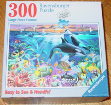 PUZZLE OCEAN MARVELS 300 LARGE PIECE FORMAT PUZZLES 2010 RAVENSBURGER CO... - $14.00