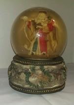 Victorian St Nicolas Christmas Musical Snow Glo... - $26.99