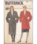 Vintage Butterick #6083 Wrap Coat Jacket Pattern Uncut Factory Folded 8 ... - $15.83
