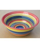 Hand Painted Swirled Style Colorful Dinner Stoneware Plate by Totally To... - $18.00