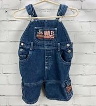 HARLEY DAVIDSON Jean Shorts Overalls Denim Kids / Toddler Boys Size 4T - $25.84