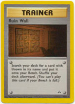 Ruin Wall 74/75 Uncommon Trainer Neo Discovery Unlimited Pokemon - $0.69