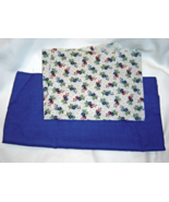 Blue Floral Fabric Fabric and Solid Blue Cotton Quilting, Crafting - $9.99