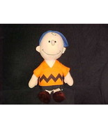 """13"""" Peanuts Charlie Brown Plush Doll 1966 United Feature Syndicate Vintage - $56.09"""