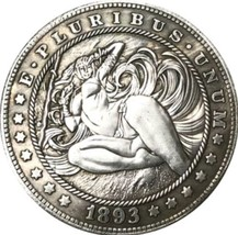 New Hobo Nickel 1893 Sexy Amazon Bikini Long Hair USA Morgan Dollar Cast... - $11.99