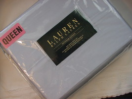 Ralph Lauren Dunham Azure Light Blue Sheet Set, Queen - $90.00