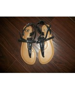 Never Worn Womens Gianni Bini Black Shiny Sandals Size 6.5M - $15.00