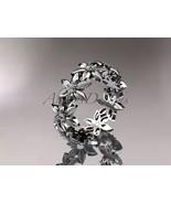 Floral Wedding band, 14kt white gold diamond leaf and vine engagement ri... - $935.00