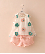 Toddler Girls Pink Summer Daisy Embroidery Flor... - $36.00