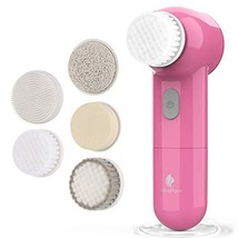 Facial Cleansing Brush, Waterproof Face Brush with 5 Brush Heads,Rotatin... - $20.72