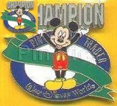 Disney Cast Recognition Pin Trader Champion Spring 2001 Green Sash Micke... - $19.59