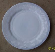"STARLIGHT  Hazel Atlas 1930'S Depression White Milk Glass 9"" Plate - $12.86"