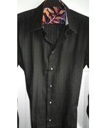 Mens casual shirt, point collar textured weave rich contrast, handmade ... - $29.50