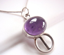 Amethyst Necklace 925 Sterling Silver Corona Sun Jewelry Imported from I... - $19.37