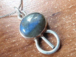Labradorite Necklace 925 Sterling Silver Corona Sun Jewelry Imported fro... - $19.37